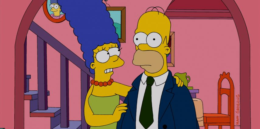 "THE SIMPSONS: Homer returns a changed man from a nuclear power plant operating convention in the all-new ""Homerland"" 25th season premiere episode of THE SIMPSONS airing Sunday, Sept. 29 (8:00-8:30 PM ET/PT) on FOX. THE SIMPSONS ™ and © 2013 TCFFC ALL RIGHTS RESERVED."
