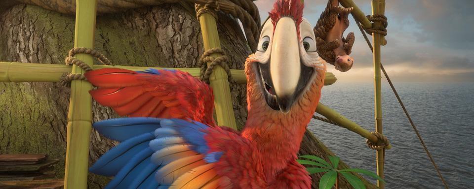 Papagei Dienstag und Schuppentier Pango