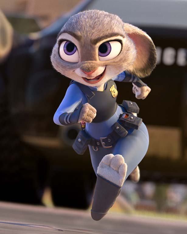 ZOOTOPIA ??OFFICER HOPPS -- Judy Hopps (voice of Ginnifer Goodwin) believes anyone can be anything. Being the first bunny on a police force of big, tough animals isn't easy, but Hopps is determined to prove herself. Featuring score by Oscar?-winning composer Michael Giacchino, and an all-new original song,