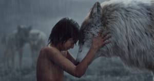 THE JUNGLE BOOK (L-R) MOWGLI (Neel Sethi) and RAKSHA (voiced by Lupita Nyong'o). ©2015 Disney Enterprises, Inc. All Rights Reserved.