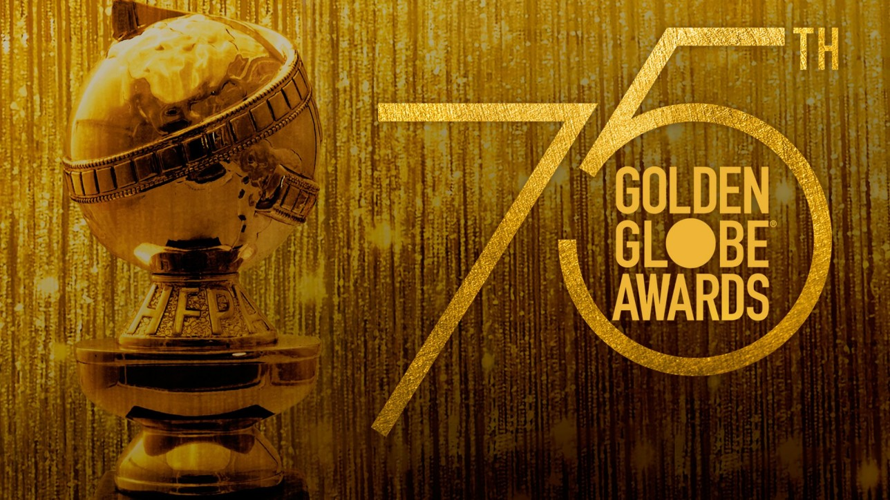 "THE 75TH GOLDEN GLOBE AWARDS -- Pictured: ""The 75th Golden Globe Awards"" Key Art -- (Photo by: NBC)"