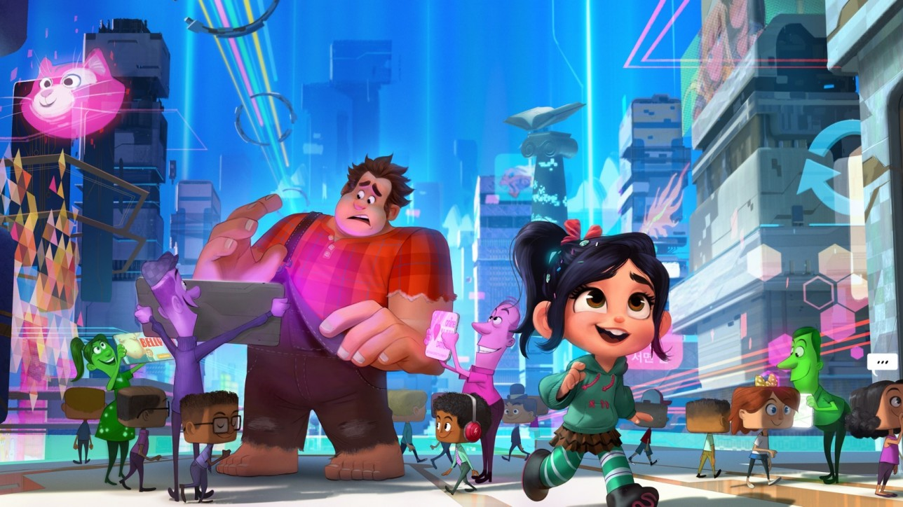 """Ralph Breaks the Internet: Wreck-It Ralph 2"" leaves Litwak's video arcade behind, venturing into the uncharted, expansive and thrilling world of the internet—which may or may not survive Ralph's wrecking. Video game bad guy Ralph (voice of John C. Reilly) and fellow misfit Vanellope von Schweetz (voice of Sarah Silverman) must risk it all by traveling to the world wide web in search of a replacement part to save Vanellope's video game, Sugar Rush. In way over their heads, Ralph and Vanellope rely on the citizens of the internet—the netizens—to help navigate their way, including a webite entrepreneur named Yesss (voice of Taraji P. Henson), who is the head algorithm and the heart and soul of trend-making site ""BuzzzTube."" Directed by Rich Moore (""Zootopia,"" ""Wreck-It Ralph"") and Phil Johnston (co-writer ""Wreck-It Ralph,"" ""Cedar Rapids,"" co-writer ""Zootopia,""), and produced by Clark Spencer (""Zootopia,"" ""Wreck-It Ralph,"" ""Bolt""), ""Ralph Breaks the Internet: Wreck-Ralph 2"" hits theaters on Nov. 21, 2018."