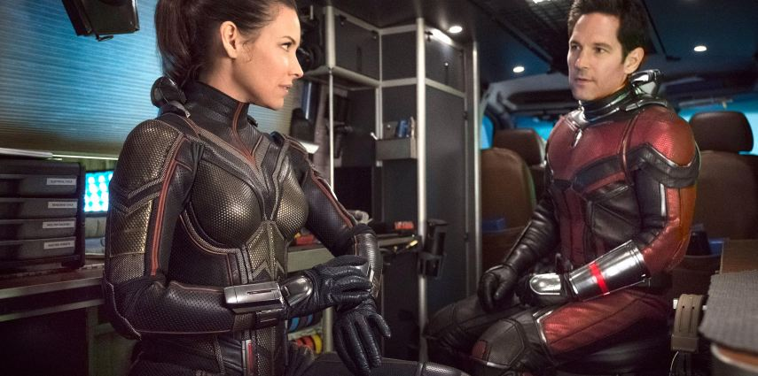 Marvel Studios ANT-MAN AND THE WASP..L to R: The Wasp/Hope van Dyne (Evangeline Lilly) and Ant-Man/Scott Lang (Paul Rudd) ..Photo: Ben Rothstein..©Marvel Studios 2018