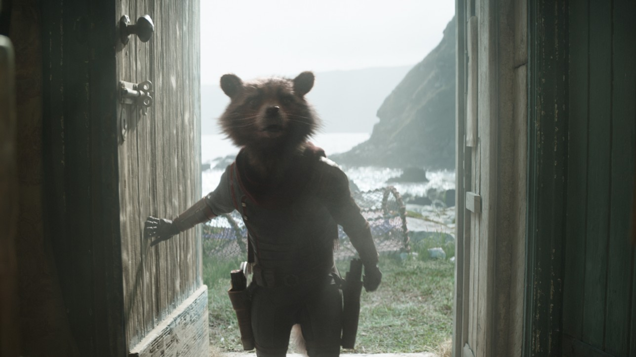 Marvel Studios' AVENGERS: ENDGAME..Rocket (voiced by Bradley Cooper)..Photo: Film Frame..©Marvel Studios 2019