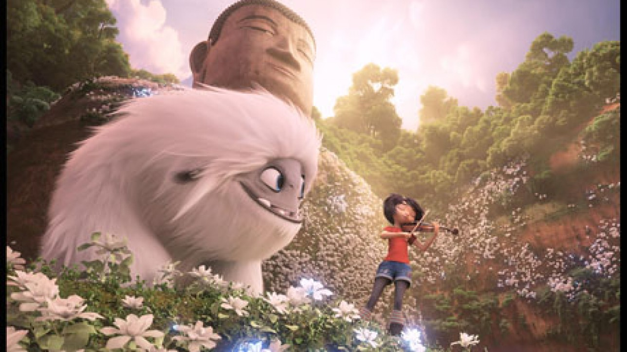 Everest, the Yeti, with Yi (Chloe Bennet) in DreamWorks Animation and Pearl Studio's Abominable, written and directed by Jill Culton.