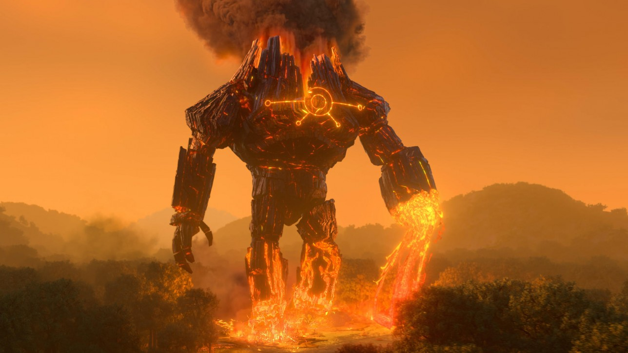 Trollhunters: Rise Of The Titans - (Pictured) Fire Titan. Cr: DreamWorks Animation © 2021
