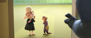 ZOOTOPIA –Pictured (L-R): Assistant Mayor Bellwether & Mrs. Otterton. ©2016 Disney. All Rights Reserved.