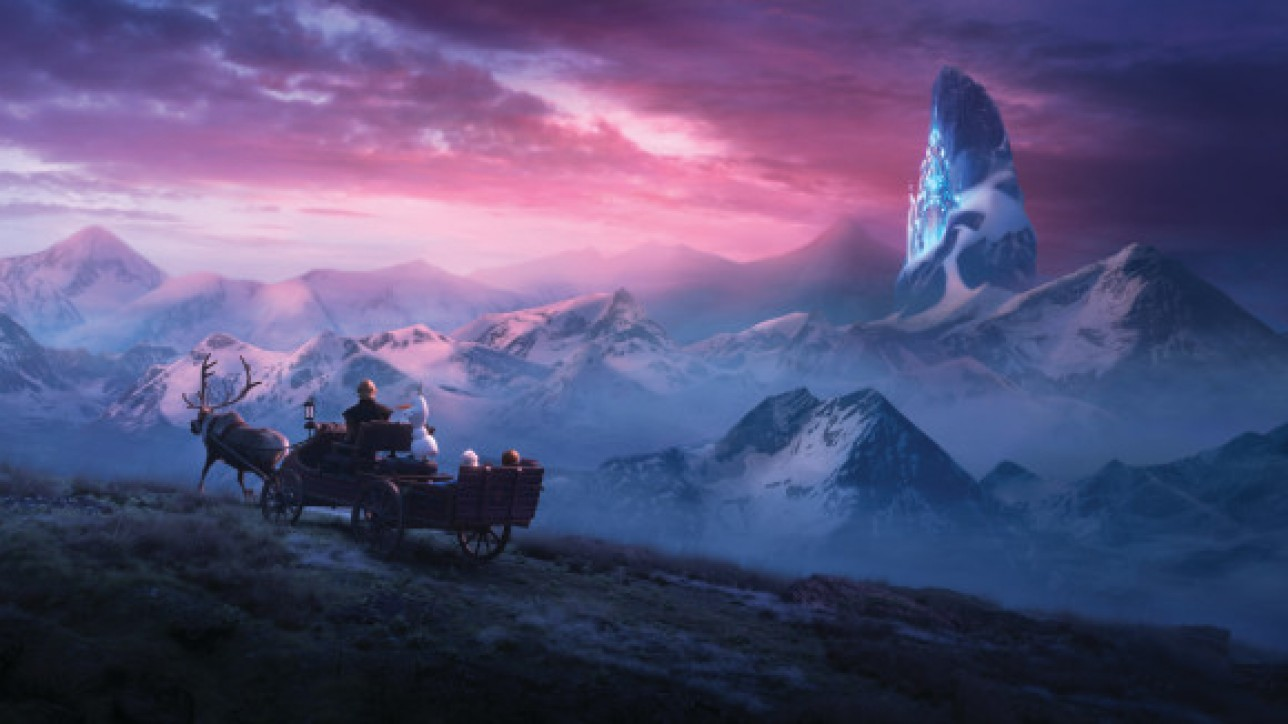"In Walt Disney Animation Studios' ""Frozen 2, Elsa, Anna, Kristoff, Olaf and Sven journey far beyond the gates of Arendelle in search of answers. Featuring the voices of Idina Menzel, Kristen Bell, Jonathan Groff and Josh Gad, ""Frozen 2"" opens in U.S. theaters November 22.©2019 Disney. All Rights Reserved."